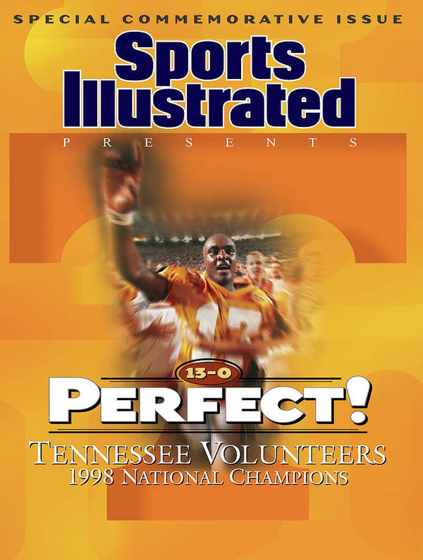 American Football Art Print featuring the photograph University Of Tennessee, 1998 Ncaa National Champions Sports Illustrated Cover by Sports Illustrated
