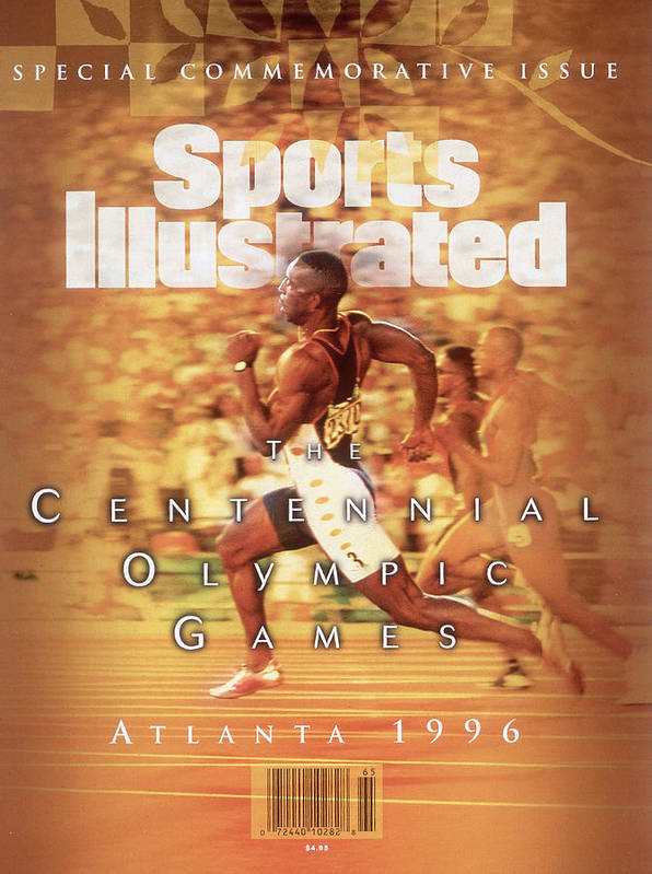 Atlanta Art Print featuring the photograph Usa Michael Johnson, 1996 Summer Olympics Sports Illustrated Cover by Sports Illustrated