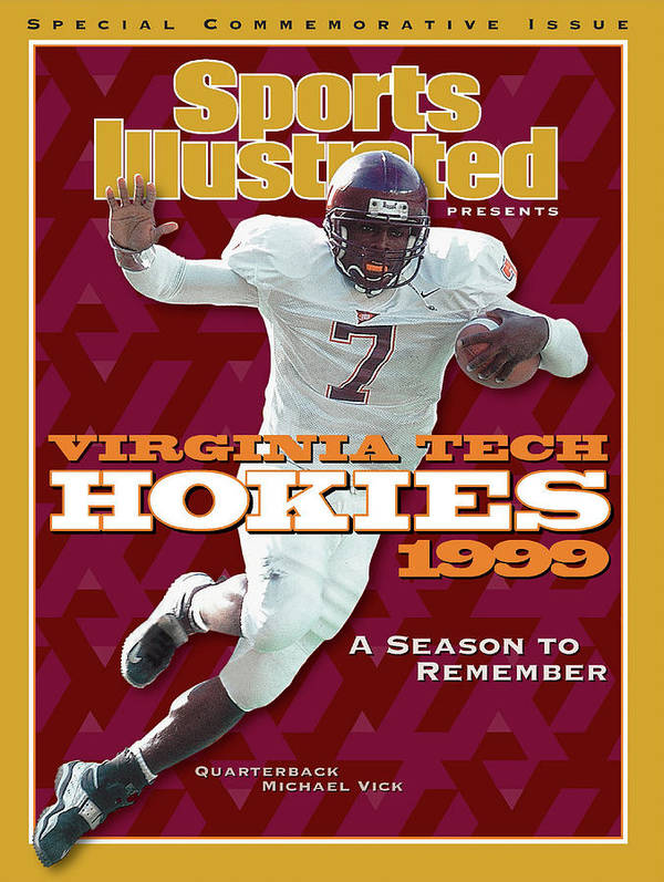 Motion Art Print featuring the photograph Virginia Tech Hokies 1999 A Season To Remember Sports Illustrated Cover by Sports Illustrated