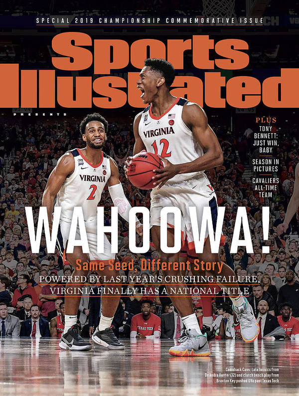 De'andre Hunter Art Print featuring the photograph Wahoowa University Of Virginia 2019 Ncaa National Champions Sports Illustrated Cover by Sports Illustrated