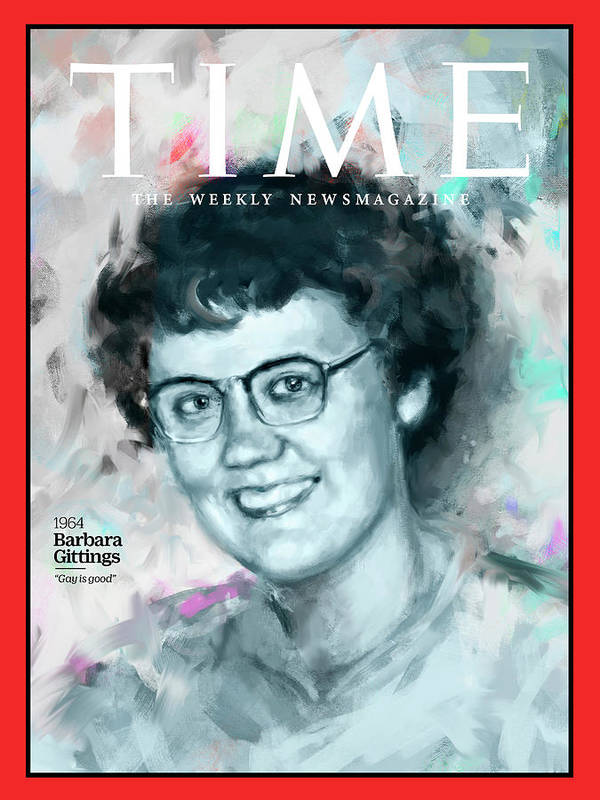 Time Art Print featuring the photograph Barbara Gittings, 1964 by Illustration by Ivana Besevic