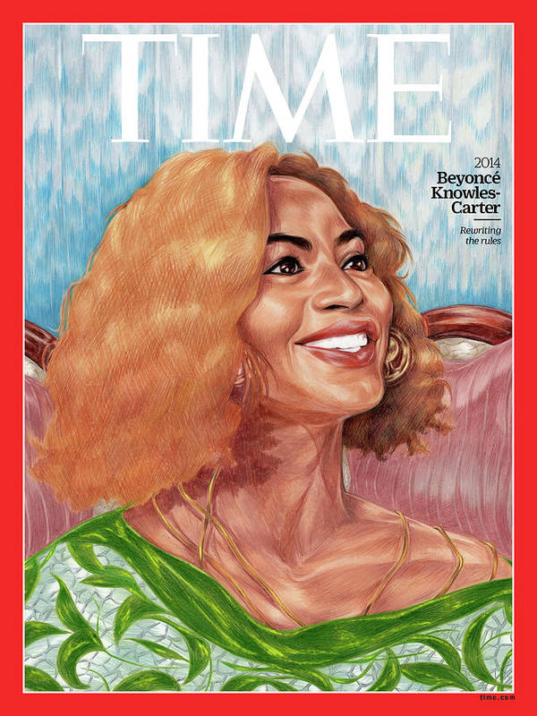 Time Art Print featuring the photograph Beyonce Knowles Carter, 2014 by Painting by Toyin Ojih Odutola for TIME