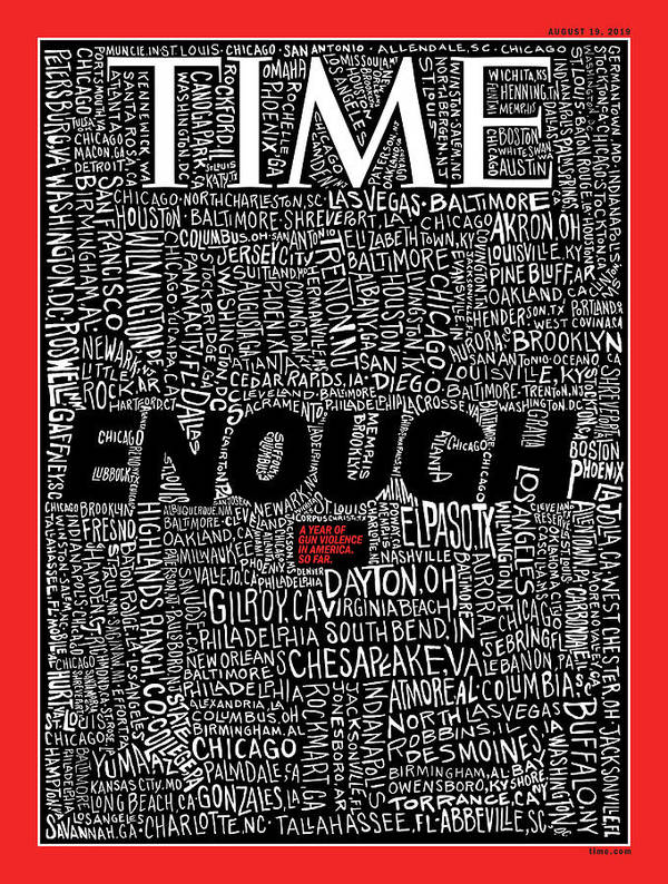 Guns Art Print featuring the photograph Enough by Illustration by John Mavroudis for TIME