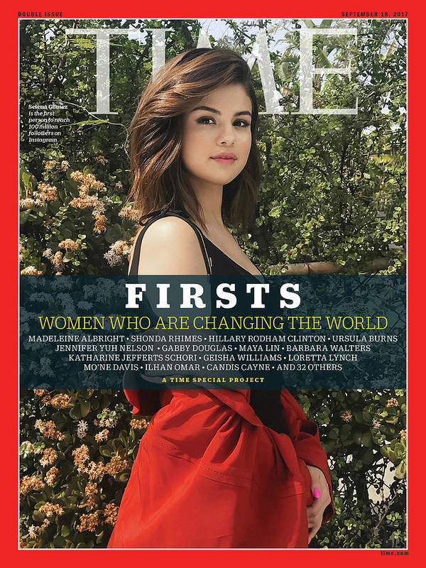 Selena Gomez Art Print featuring the photograph Firsts - Women Who Are Changing the World, Selena Gomez by Photograph by Luisa Dorr for TIME