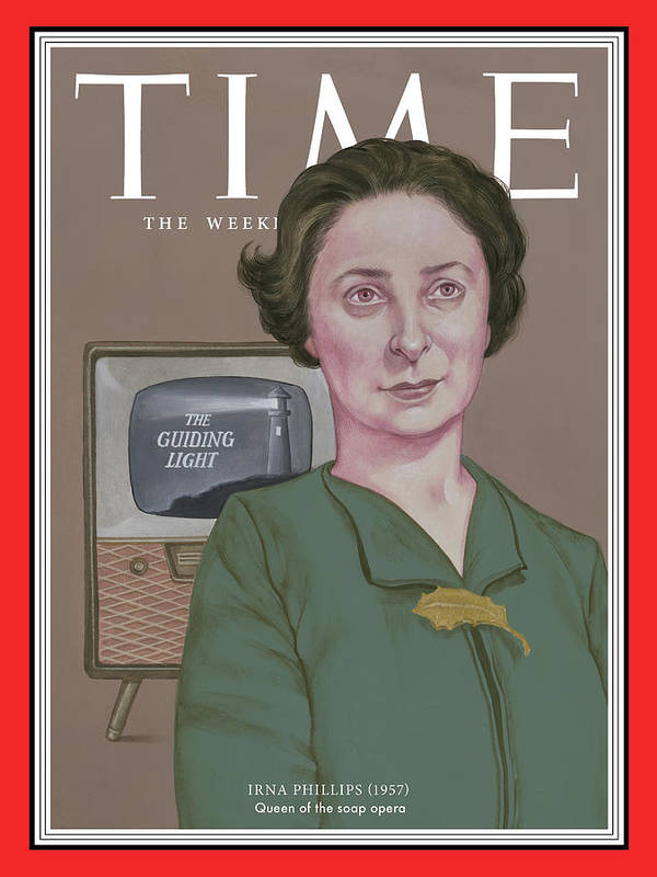 Time Art Print featuring the photograph Irna Phillips, 1957 by TIMEIllustration by Anita Kunz for TIME