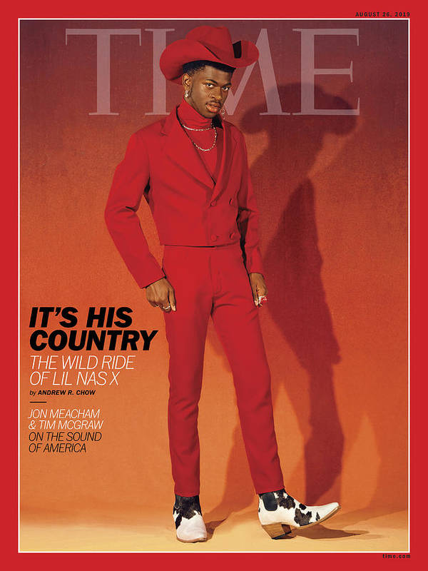 Music Art Print featuring the photograph It's His Country - Lil Nas X by Photograph by Kelia Anne for TIME