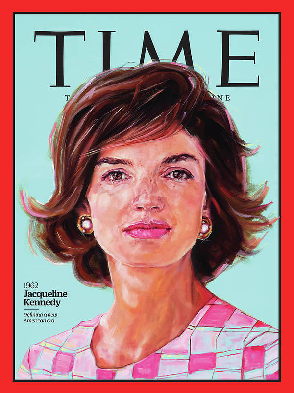 Time Art Print featuring the photograph Jacqueline Kennedy, 1962 by Painting by Shana Wilson for TIME