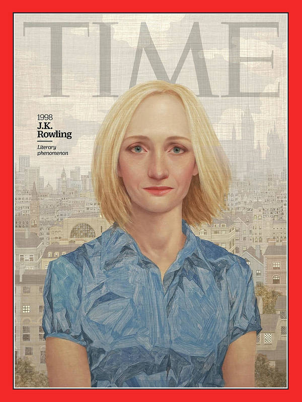 Time Art Print featuring the photograph J.K. Rowling, 1998 by Illustration by Lu Cong for TIME