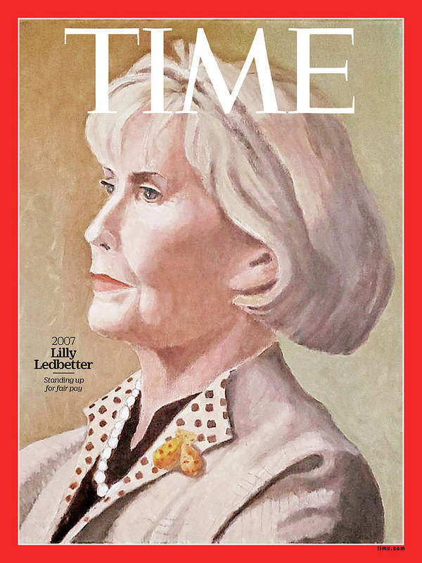 Time Art Print featuring the photograph Lilly Ledbetter, 2007 by Painting by Nicole Jeffords for TIME