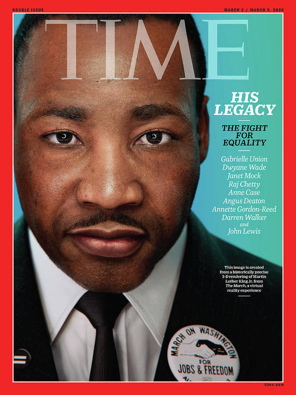 Civil Rights Art Print featuring the photograph Martin Luther King, Jr. by Portrait for TIME by Hank Willis Thomas and Digital Domain