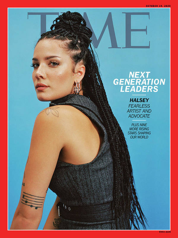 Next Generation Leaders Art Print featuring the photograph NGL - Halsey by Photograph by Daria Kobayashi Ritch for TIME