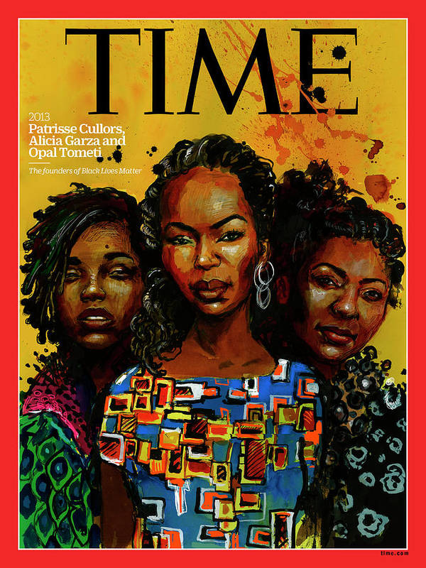 Time Art Print featuring the photograph Patrisse Cullors, Alicia Garza, Opal Tometi, 2013 - Founders of Black Lives Matter by Illustration by Molly Crabapple for TIME