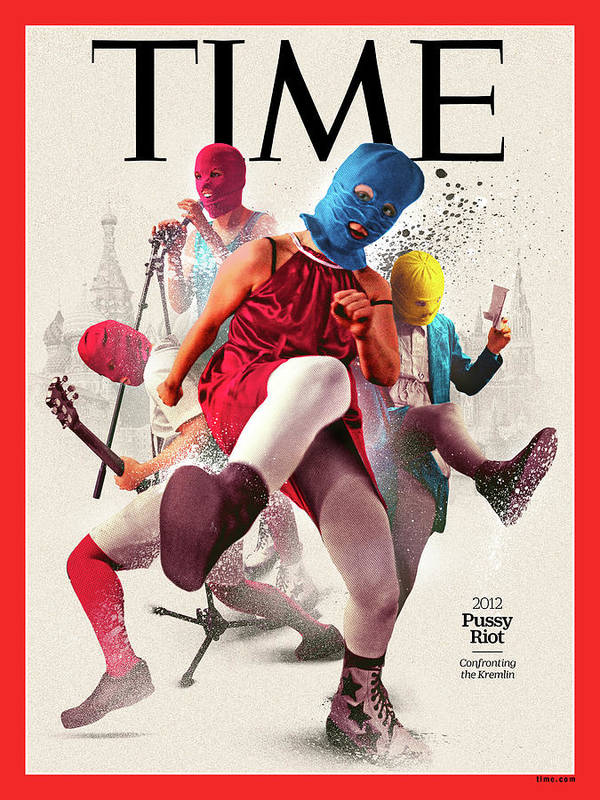 Time Art Print featuring the photograph Pussy Riot, 2012 by Illustration by Neil Jamieson for TIME