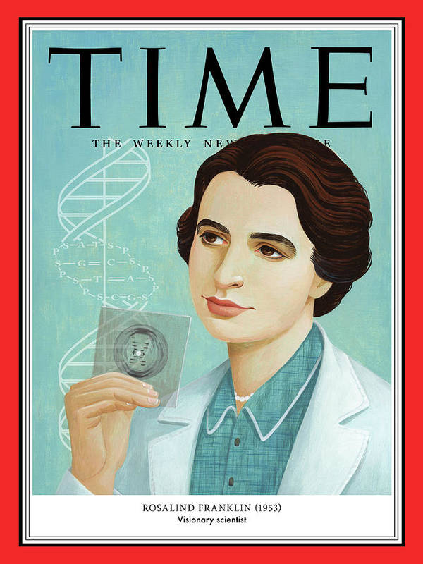 Time Art Print featuring the photograph Rosalind Franklin, 1953 by Illustration by Jody Hewgill for TIME