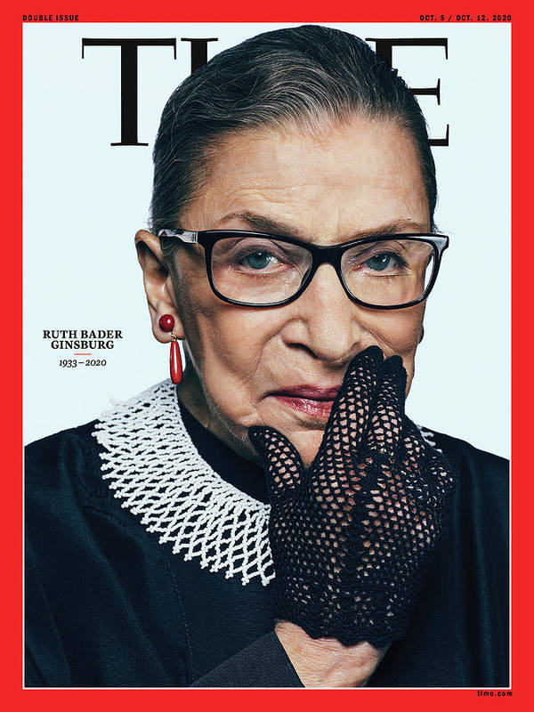 Ruth Bader Ginsburg Art Print featuring the photograph Ruth Bader Ginsburg 1933-2020 by Photograph by Sebastian Kim--AUGUST for TIME