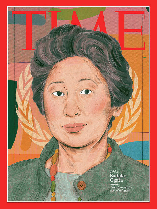 Time Art Print featuring the photograph Sadako Ogata, 1995 by Illustration by Manjit Thapp for TIME