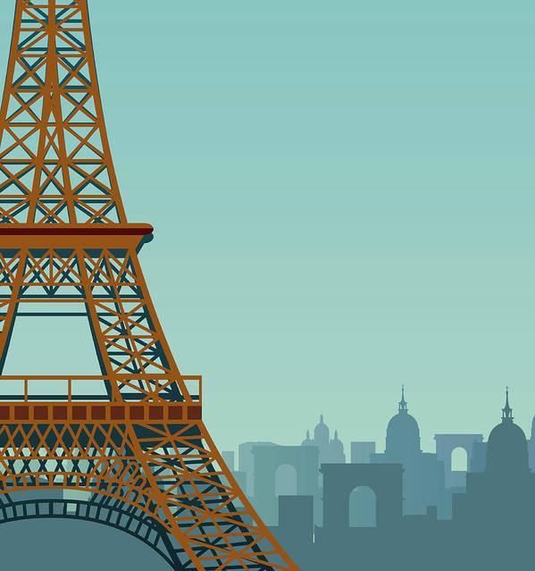 Built Structure Art Print featuring the digital art Paris by Drmakkoy