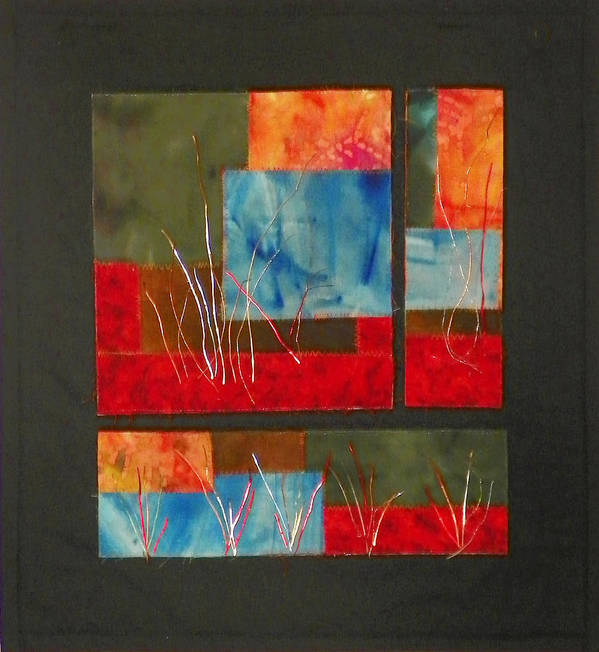 Nature Art Print featuring the mixed media Reeds by Jenny Williams