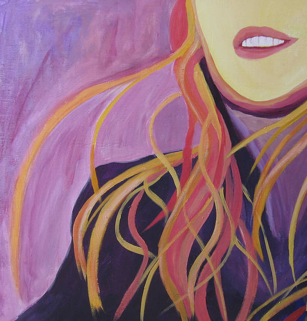 Portrait Art Print featuring the painting Smile by Ingrid Torjesen