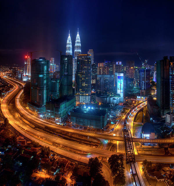 Outdoors Art Print featuring the photograph Two Direction In Klcc by Rithauddin Photographer