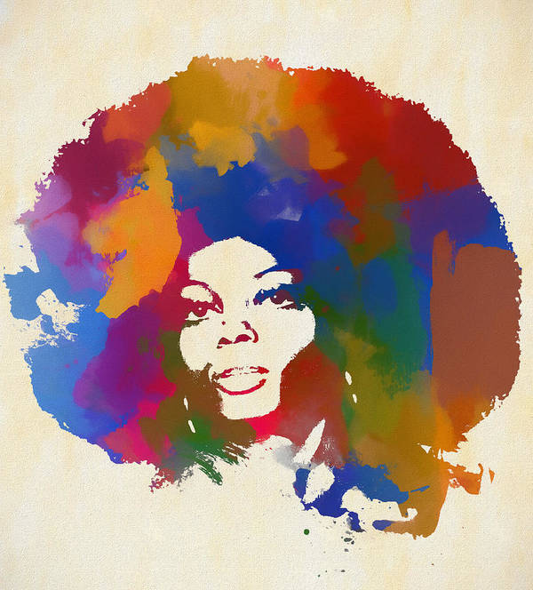 Art print POSTER CANVAS Diana Ross