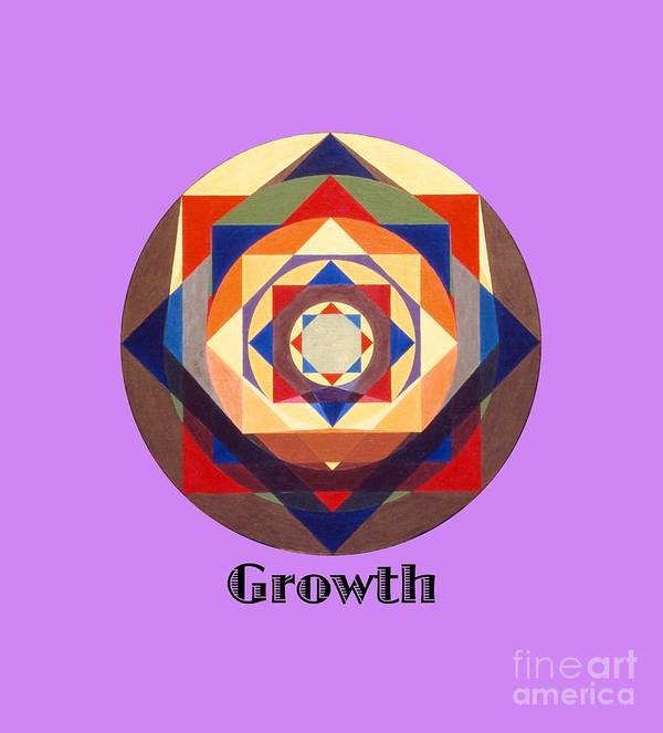 Painting Art Print featuring the painting Growth text by Michael Bellon