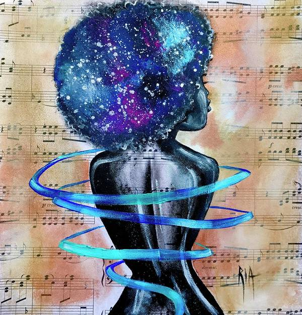 Space Art Print featuring the painting I am her... She is Me by Artist RiA