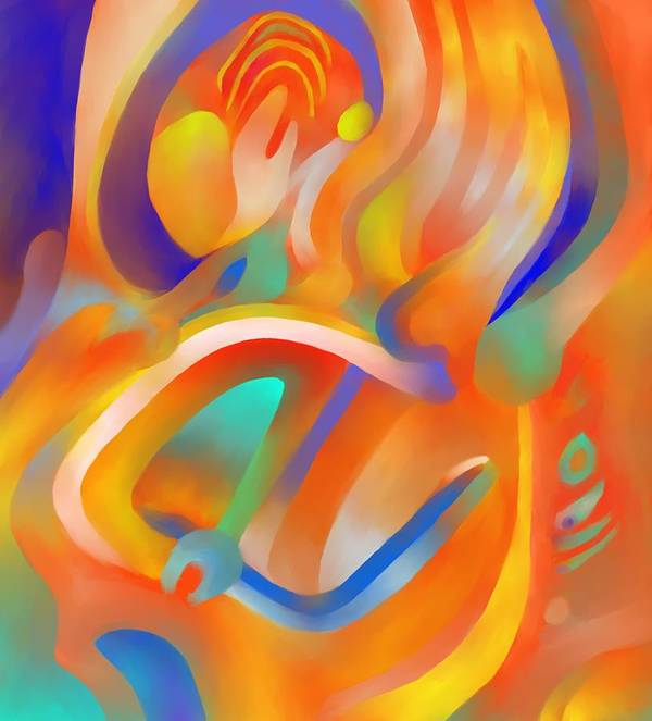 Colorful Art Print featuring the digital art Musical Enjoyment by Peter Shor