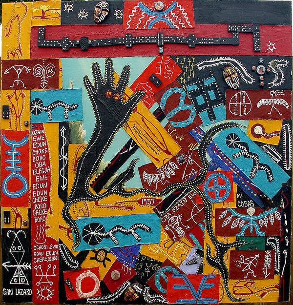 Jay Lonewolf Art Print featuring the mixed media The Domino Effect Of Religion by Jay Lonewolf