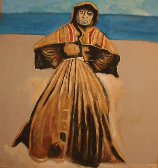 Art Print featuring the painting Witch by the sea by Biagio Civale