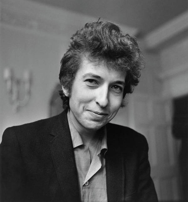 Bob Dylan Art Print featuring the photograph A Rare Smile by Harry Thompson