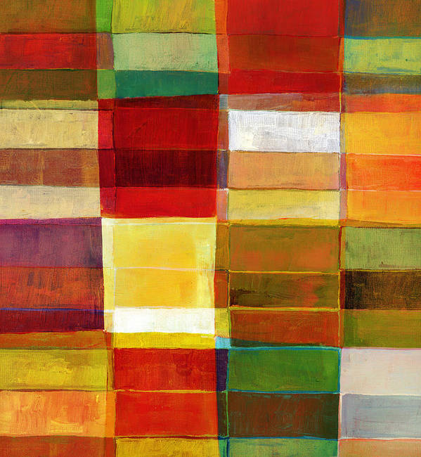 Rectangle Art Print featuring the photograph Colorful Painted Block Pattern by Qweek