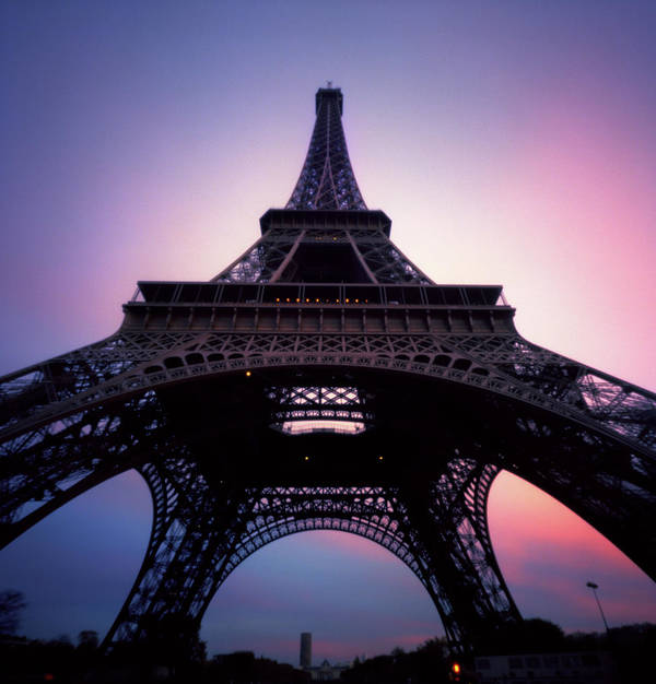 Arch Art Print featuring the photograph Eiffel Tower At Sunset by Zeb Andrews