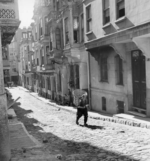 Istanbul Art Print featuring the photograph Red Light District by George Pickow