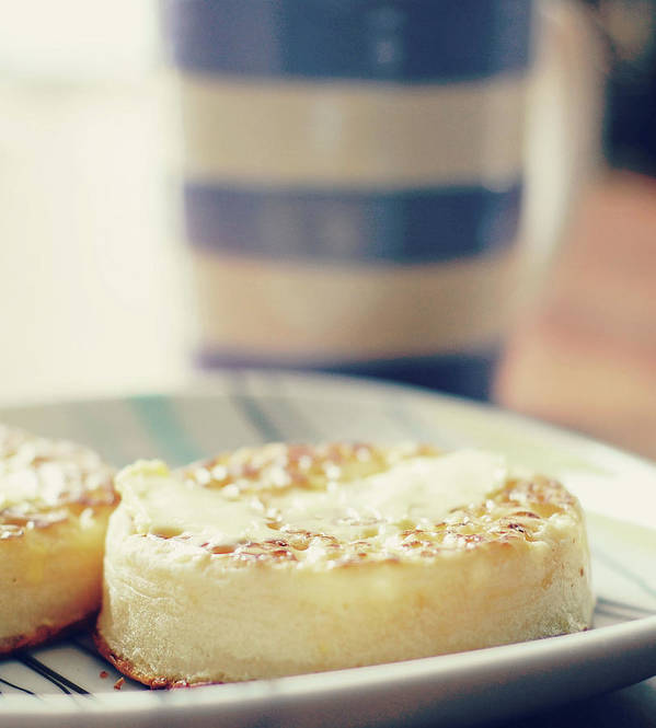 Healthy Eating Art Print featuring the photograph Tea And Crumpets by Deborah Slater