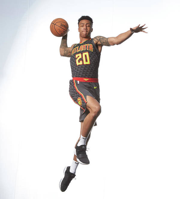 Nba Pro Basketball Art Print featuring the photograph John Collins by Nathaniel S. Butler