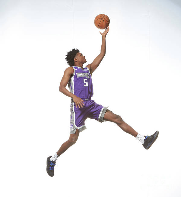Nba Pro Basketball Art Print featuring the photograph De'aaron Fox by Nathaniel S. Butler