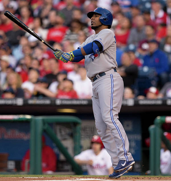 Second Inning Art Print featuring the photograph Edwin Encarnacion by Mitchell Leff
