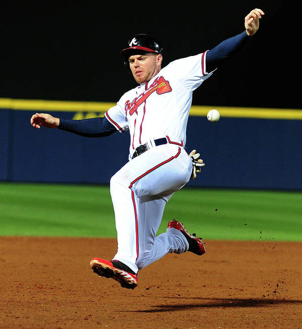 Atlanta Art Print featuring the photograph Freddie Freeman by Scott Cunningham