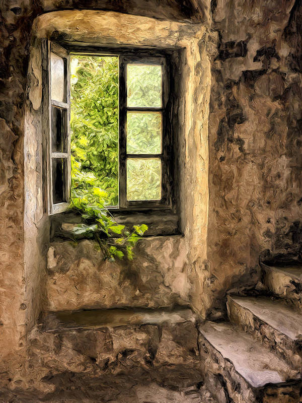 Old Home Art Print featuring the painting Creeping In by Dominic Piperata