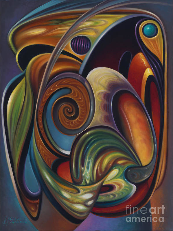 Multi-color Art Print featuring the painting Dynamic Series #16 by Ricardo Chavez-Mendez