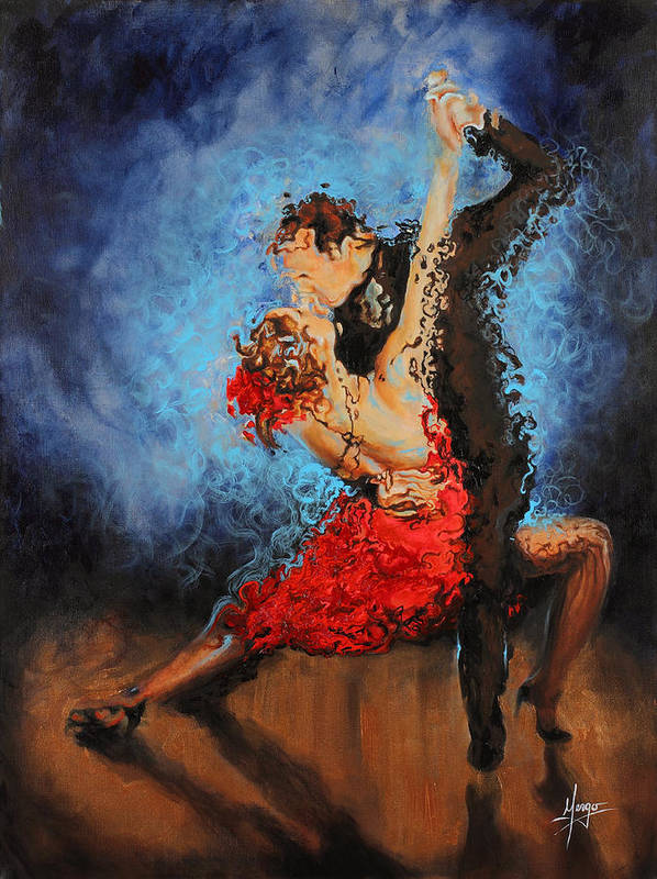 Dance Art Print featuring the painting Melting by Karina Llergo