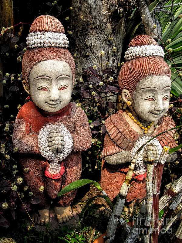 Sawasdee Art Print featuring the photograph Traditional Thai Welcome by Adrian Evans