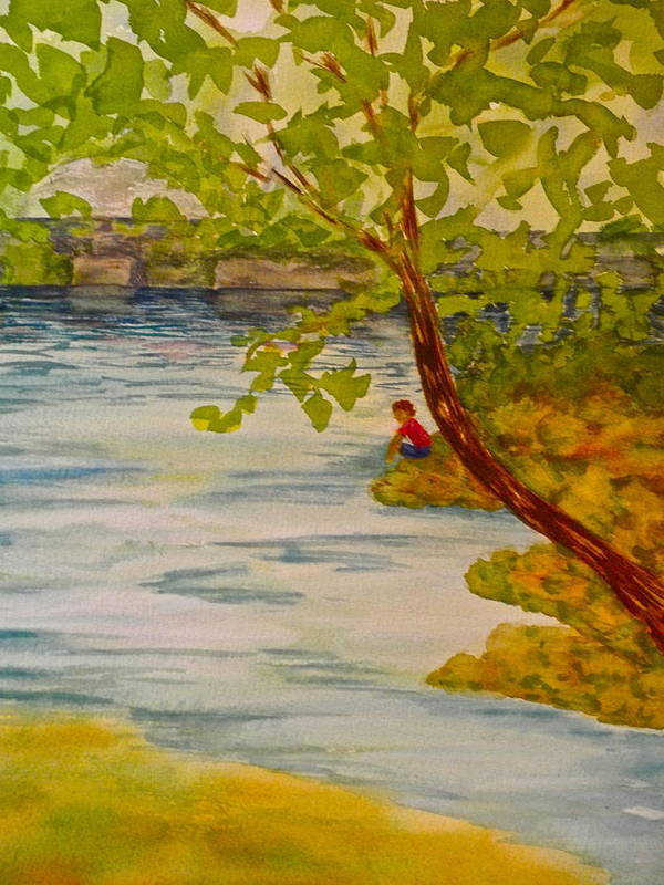 Water Art Print featuring the painting Summer Daydream by Laura Shepardson