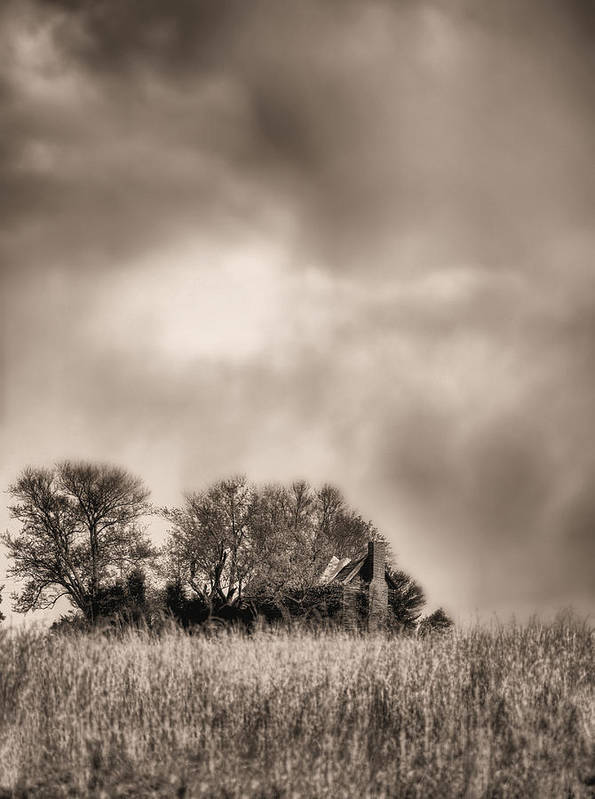 Fauquier County Virginia Art Print featuring the photograph Trouble Brewing II Bw by JC Findley
