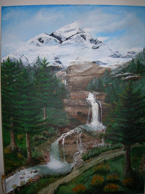 Landscape Art Print featuring the painting Big White One by Jack Hampton