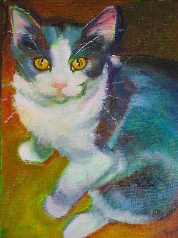Pet Art Print featuring the painting Buddy The Cat by Kaytee Esser