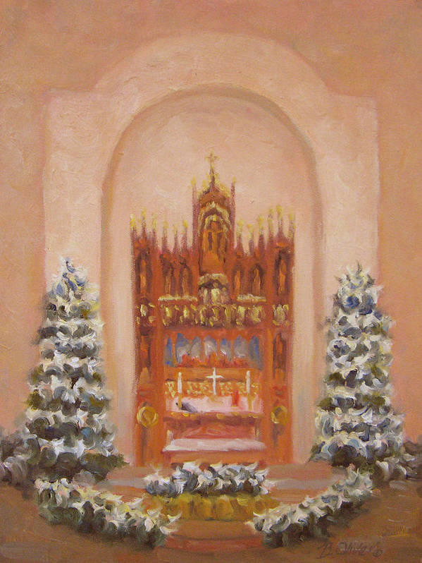Church Art Print featuring the painting Easter At St. Martins by Bunny Oliver