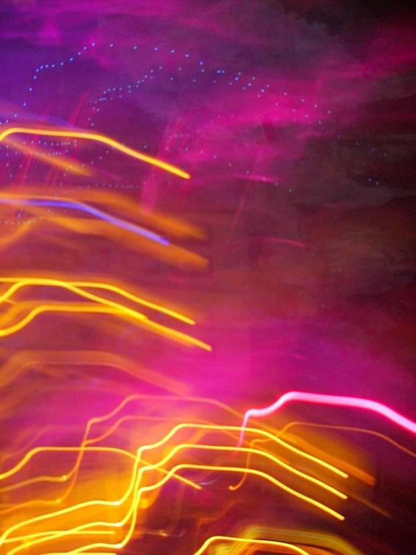 Abstract Art Print featuring the photograph Fingers Of Light by Lessandra Grimley