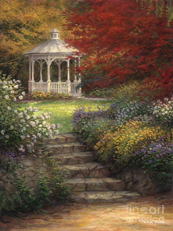 Garden Steps Art Print By Chuck Pinson